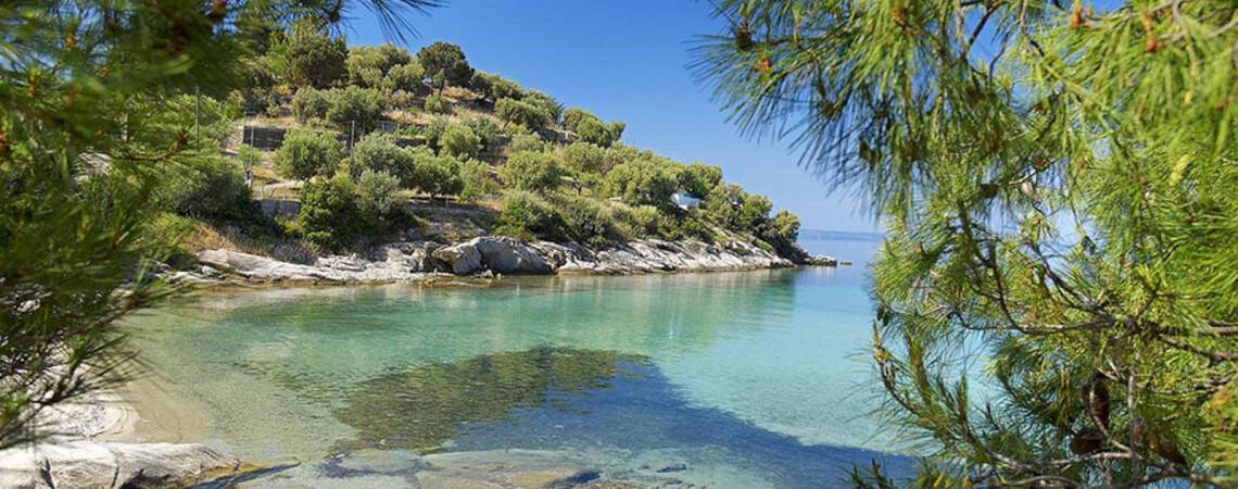 Halkidiki beach in Sithonia