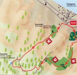 Hiking route 4 - Mavrobara Polichrono Halkidiki